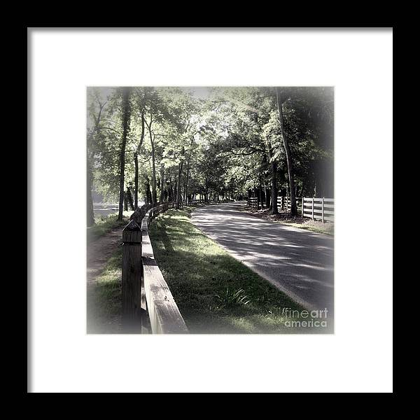 Richmond Va Framed Print featuring the photograph In My Dream The Road Less Traveled by Nancy Dole McGuigan