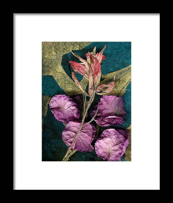 Neoglyph Framed Print featuring the digital art Indian Paintbrush Fadeing by George Page