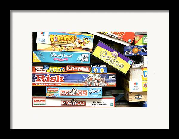 Game Framed Print featuring the photograph Indoor Games by Johnny Greig
