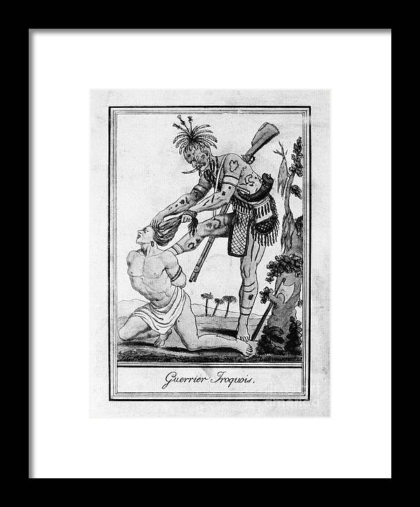 1796 Framed Print featuring the photograph Iroquois Warrior by Granger