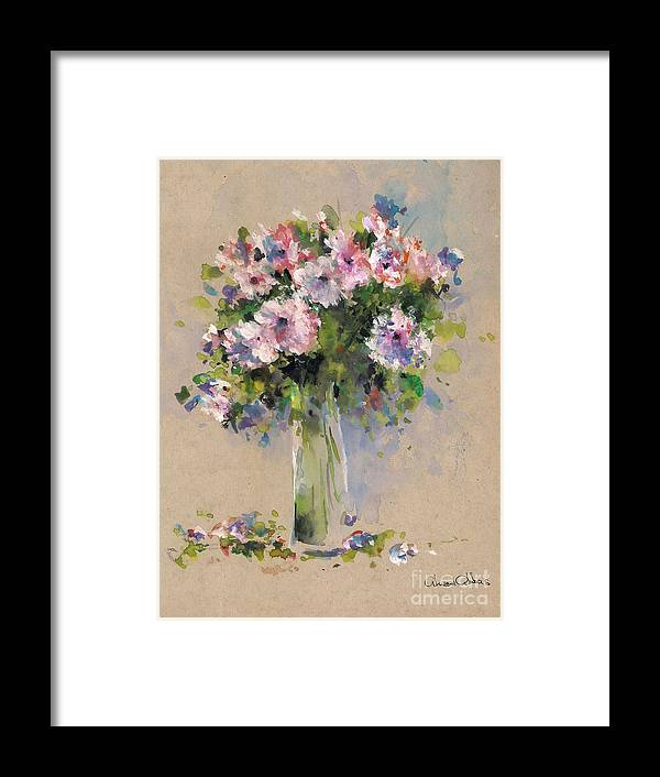 Flowers Paintings Framed Print featuring the painting Jabirah by Ahmed Abbas
