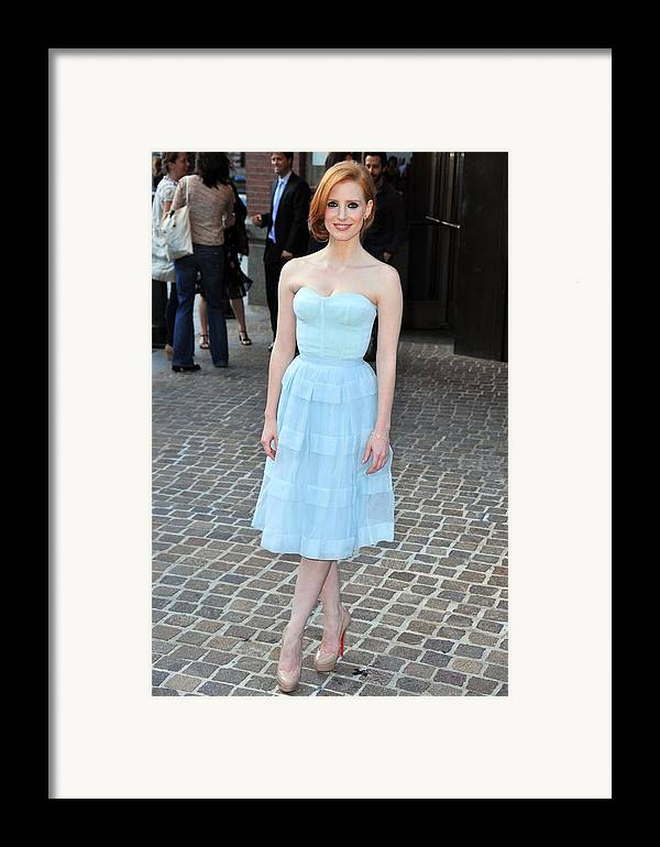 Jessica Chastain Framed Print featuring the photograph Jessica Chastain Wearing A Christian by Everett