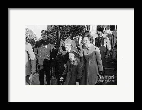 1977 Framed Print featuring the photograph Jimmy Carter (1924- ) by Granger