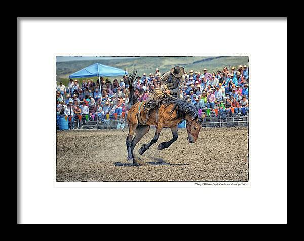 Jordan Framed Print featuring the photograph Jordan Valley Arena Action 2012 by Mary Williams Hyde