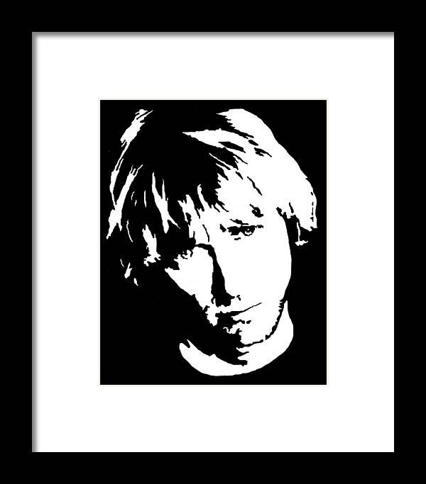 Kurt Cobain Framed Print by Deborah Lepor