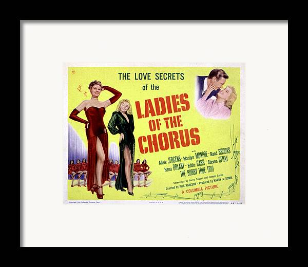 1940s Movies Framed Print featuring the photograph Ladies Of The Chorus, Adele Jergens by Everett