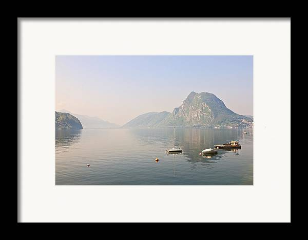 Travel Framed Print featuring the photograph Lago Di Lugano by Joana Kruse