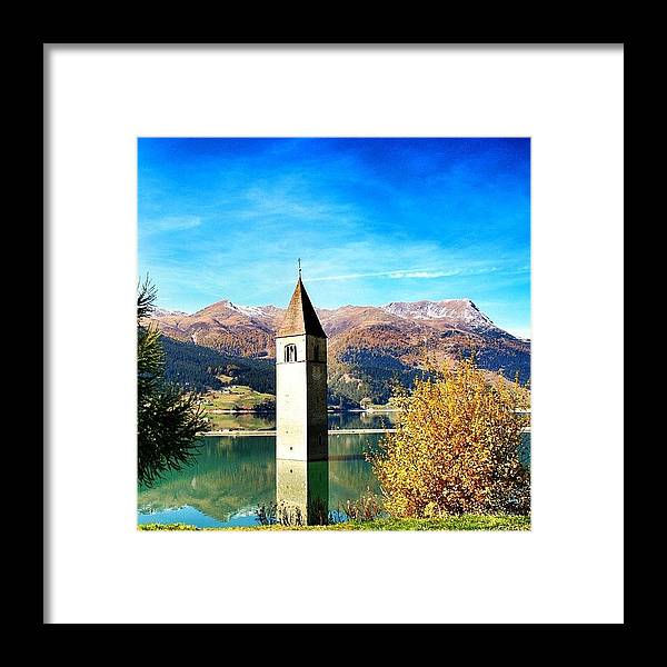 Outdoor Framed Print featuring the photograph Lago Di Resia - Alto Adige. reshen by Luisa Azzolini