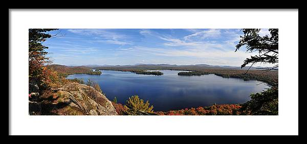 Lake Lila Framed Print featuring the photograph Lake Lila Panorama by Peter DeFina