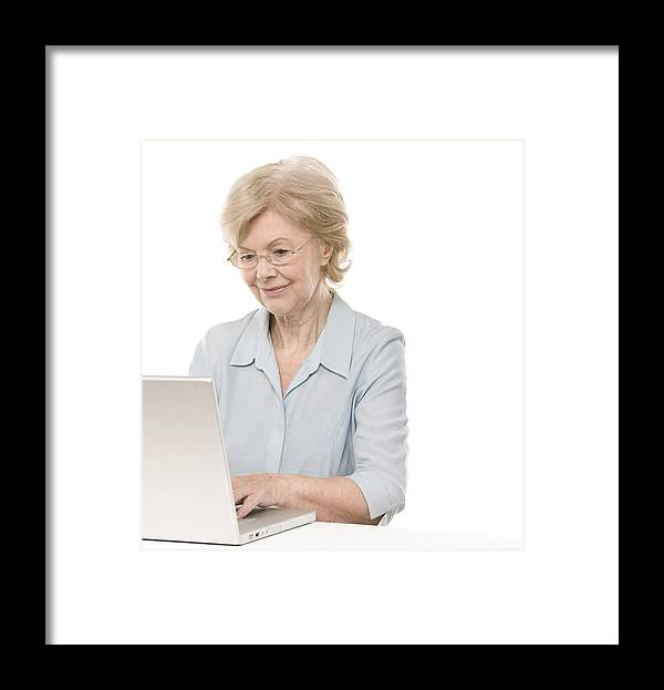 60s Framed Print featuring the photograph Laptop Use by