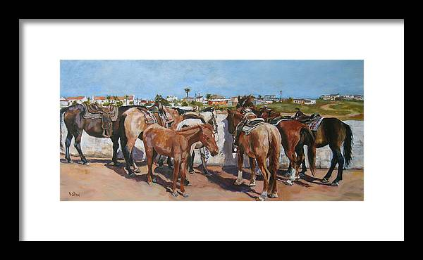 Mexico Framed Print featuring the painting Learning The Ropes by Kellie Straw