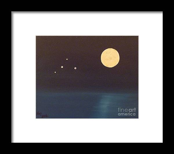 Libra Framed Print featuring the painting Libra by Alys Caviness-Gober