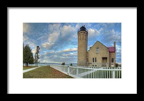 Mackinac Framed Print featuring the photograph Lighthouse At Mackinac by Twenty Two North Photography