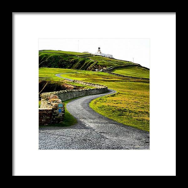 Shetland Framed Print featuring the photograph Lighthouse by Luisa Azzolini