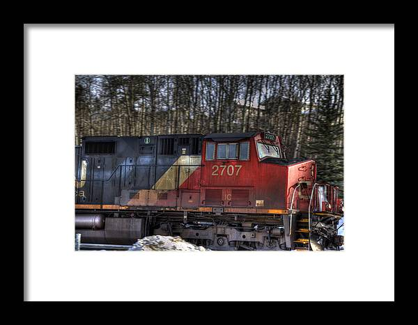 Blue Framed Print featuring the photograph Locomotive by Kim French