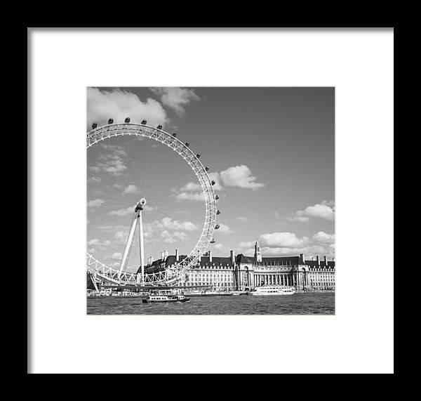 Dawn Oconnor Dawnoconnorphotos@gmail.com Framed Print featuring the photograph London Eye And County Hall by Dawn OConnor