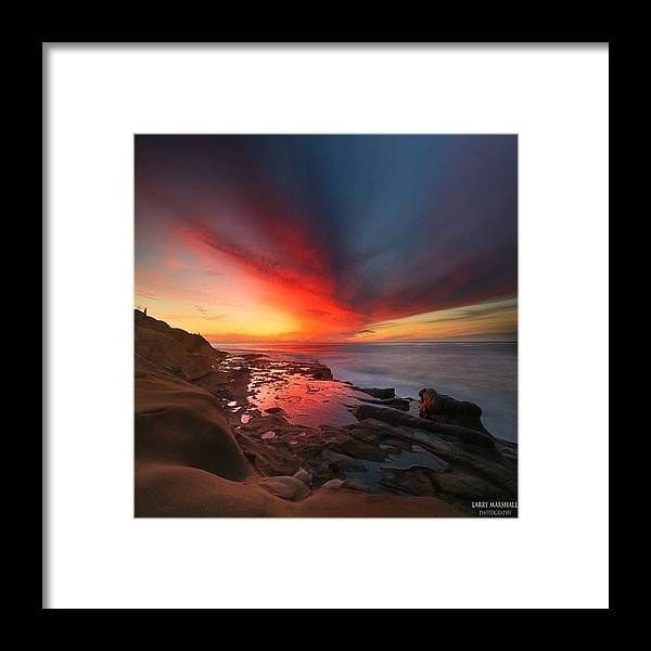 Framed Print featuring the photograph Long Exposure Sunset In La Jolla by Larry Marshall