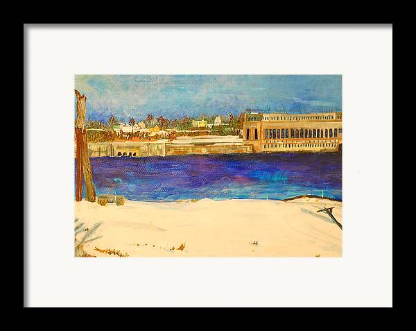 Dam Framed Prints Framed Print featuring the painting Looking To The Promised Land by Jame Hayes