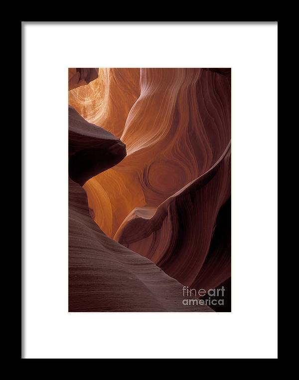 Bronstein Framed Print featuring the photograph Lower Antelope Canyon by Sandra Bronstein