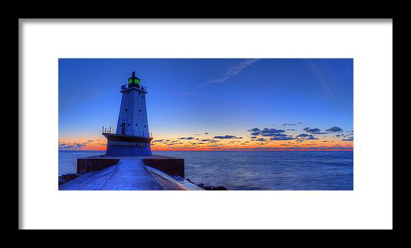 Ludington Framed Print featuring the photograph Ludington Michigan Lighthouse by Twenty Two North Photography