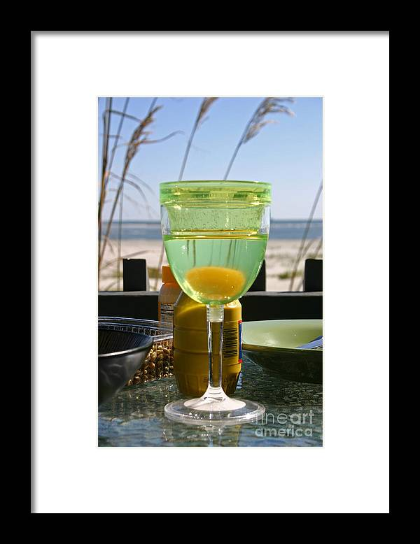 Beach Framed Print featuring the photograph Lunch on the Porch by Beebe Barksdale-Bruner
