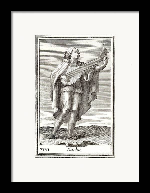 1723 Framed Print featuring the photograph Lute, 1723 by Granger