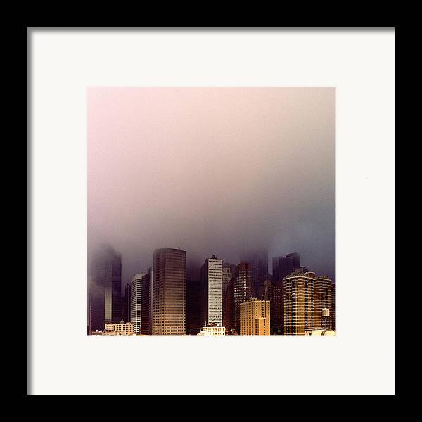 Architecture Framed Print featuring the photograph Manhattan by Eli Maier