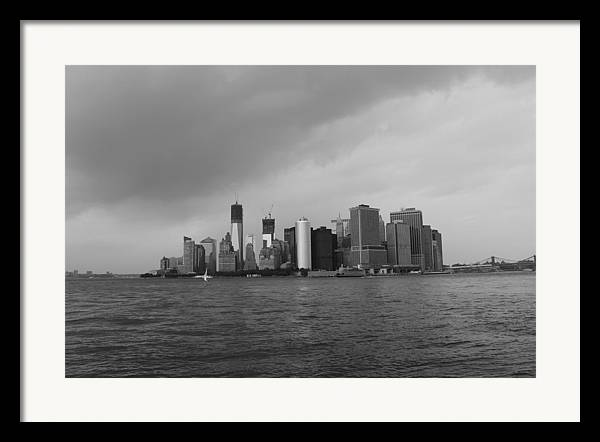 Manhattan Framed Print featuring the photograph Manhattan by Nina Mirhabibi