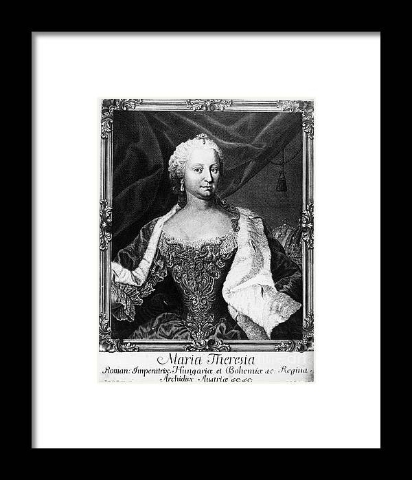 18th Century Framed Print featuring the photograph Maria Theresa (1717-1780) by Granger