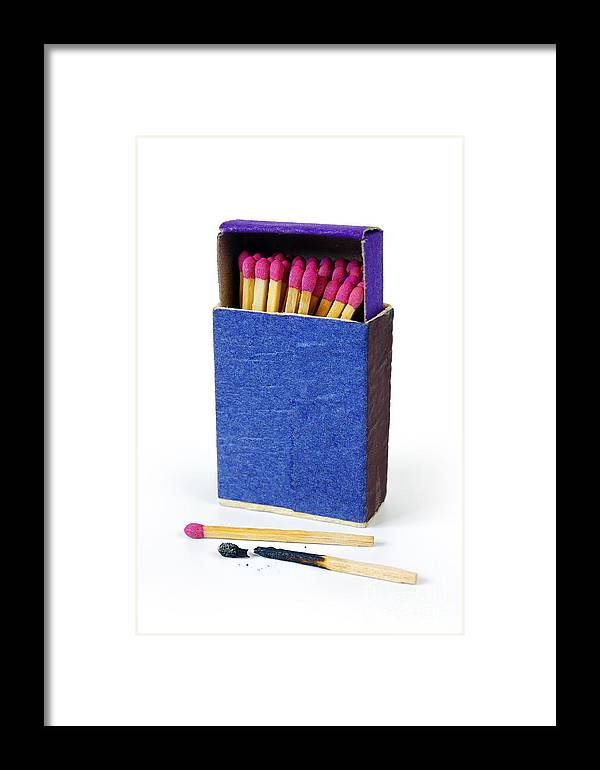 Blue Framed Print featuring the photograph Matchbox by Carlos Caetano