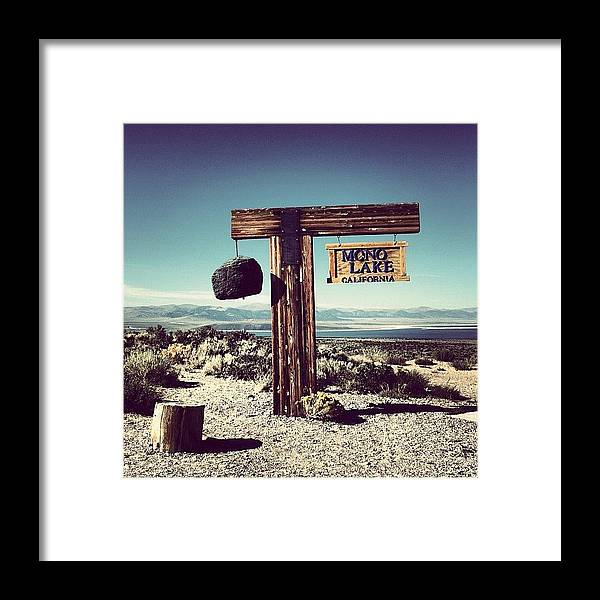 Scenery Framed Print featuring the photograph Mono Lake by Luisa Azzolini