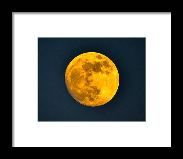 Framed Print featuring the photograph Moonscape by Brian Stevens
