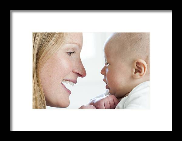 2-5 Months Framed Print featuring the photograph Mother And Baby by Ruth Jenkinson