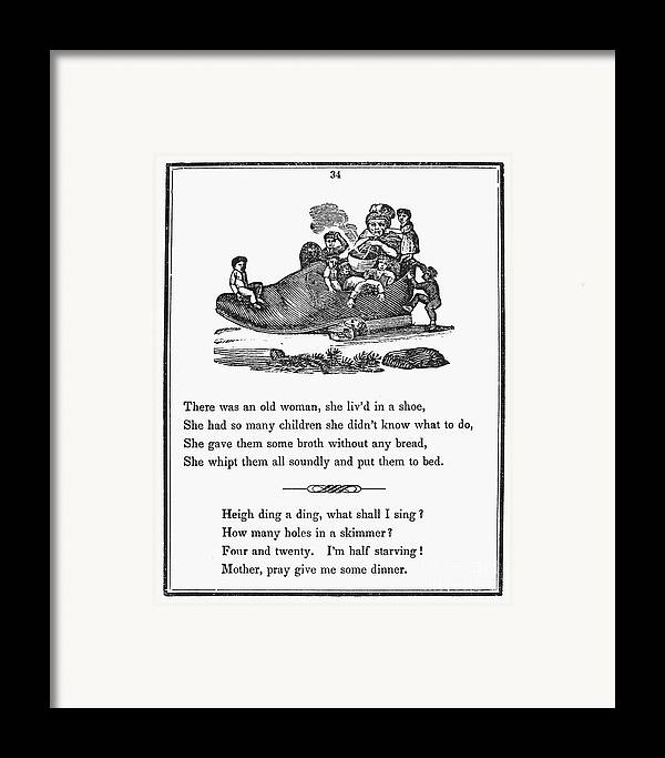 1833 Framed Print featuring the photograph Mother Goose, 1833 by Granger