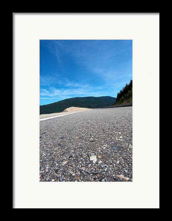 Highway Framed Print featuring the photograph Mountain Highway by Ivan SABO