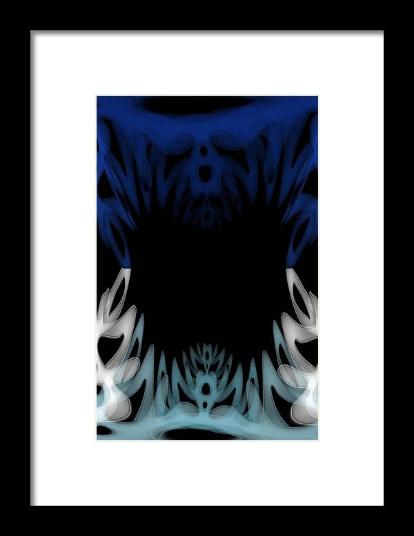 Mouth Framed Print featuring the painting Mouth Of The Beast. by Christopher Gaston