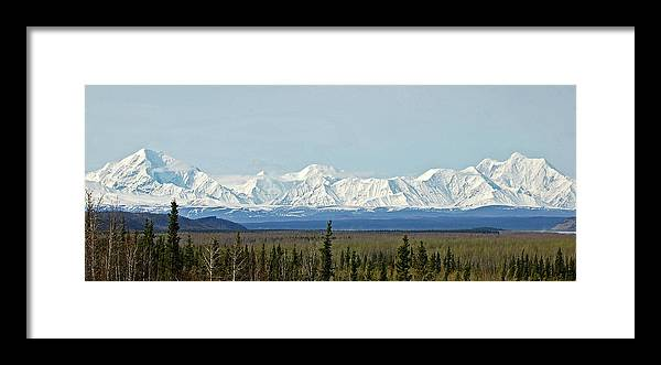 Alaska Framed Print featuring the photograph Mt Hayes Alaska May 2007 by Jim and Kim Shivers