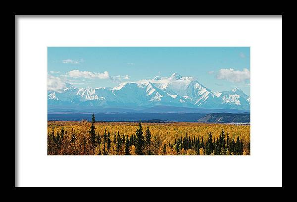Alaska Framed Print featuring the photograph Mt. Hayes Alaska Sept 2006 by Jim and Kim Shivers