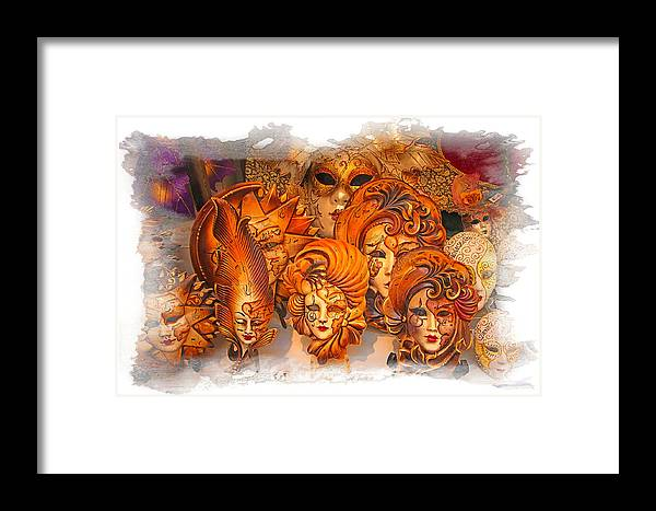 Masks Framed Print featuring the photograph Music Masks by Judy Deist
