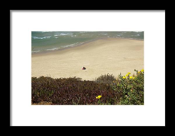 Natanya Framed Print featuring the photograph Natanya Beach by Daniel Blatt