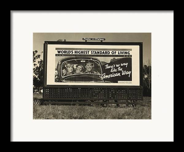 History Framed Print featuring the photograph National Association Of Manufacturers by Everett
