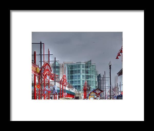 House Of Blues Framed Print featuring the digital art Navy Pier by Barry R Jones Jr