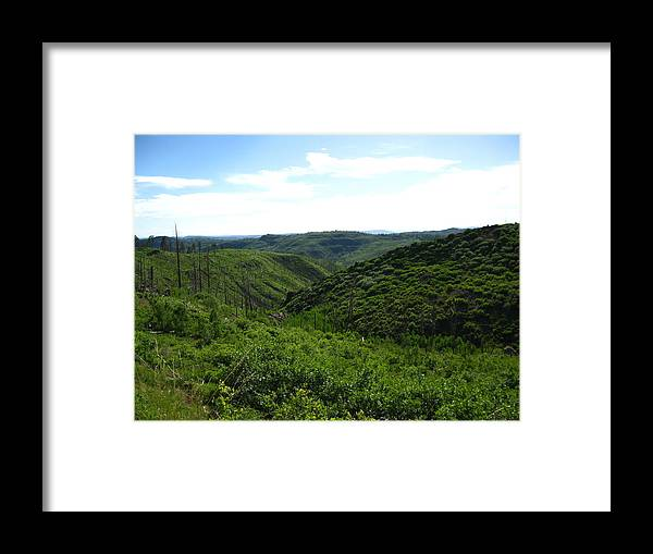 Mountains Framed Print featuring the photograph New Beginning by Amara Roberts