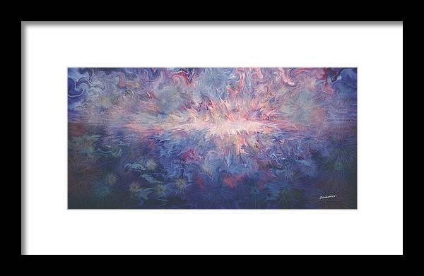 Fantasy Ocean Framed Print featuring the digital art Ocean Volcano by Brian - Tue Tri Nguyen