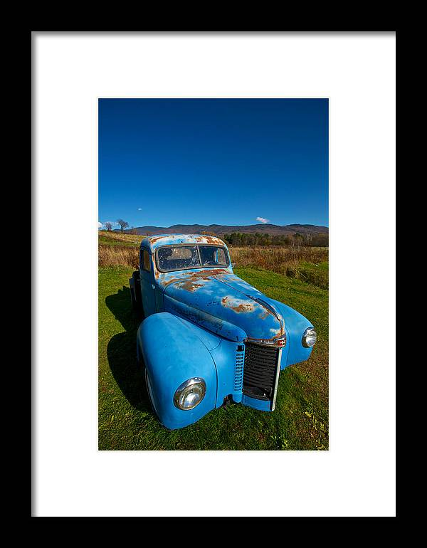 Autumn Framed Print featuring the photograph Old Blue by Mike Horvath