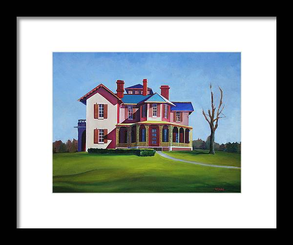 Old House Framed Print featuring the painting Old House by Robert Henne