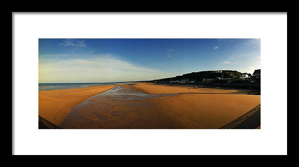 Ww2 Framed Print featuring the photograph Omaha Beach At Dog One by Jan W Faul