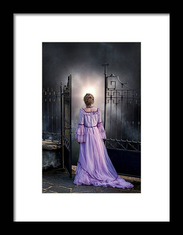 Woman Framed Print featuring the photograph Open Gate by Joana Kruse