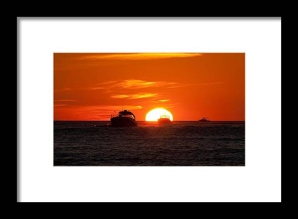 Sunset Framed Print featuring the photograph Orange Sunset IV by Christine Stonebridge
