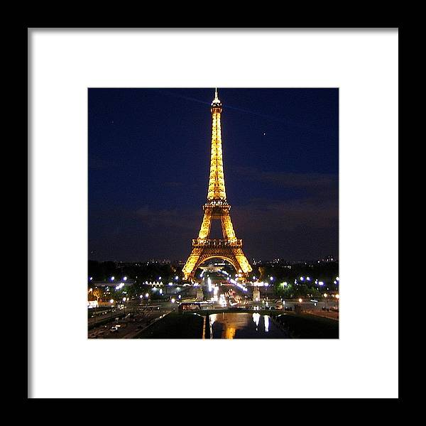 City Framed Print featuring the photograph Paris By Night by Luisa Azzolini